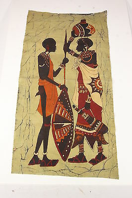 Batik Fabric Hand Printed African Tribal Starched Cotton Material Reversible Art