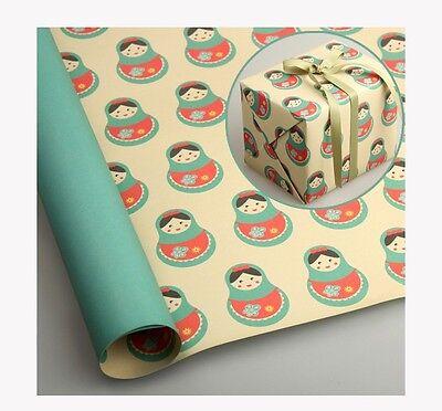 "10 sheets 23""X16.5"" Christmas Jewelry Gift wrap paper_Russian Doll, matryoshka"