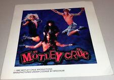 "Motley Crue-""Decade"" - 1992 -6"" x 6"" -Group Photo -STICKER -ORIGINAL-UN-Used"