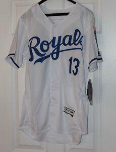 outlet store cc134 141a0 Details zu Salvador Pérez # 13 Kansas City Royals Weißes Trikot L