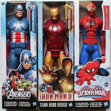 3 x MARVEL HERO THE AVENGERS ACTION FIGURES DISPLAY SET KID CHILD TOY COLLECTION