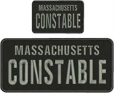 massachusetts constable embroidery patch 5x11 aand 3x5 velcro on back
