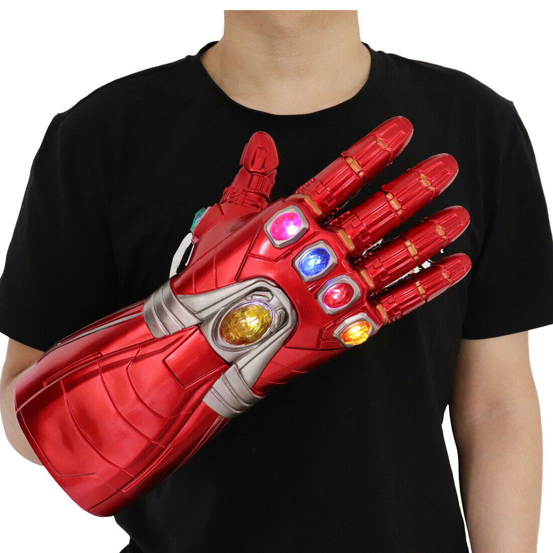 Iron Man Infinity Nano Gauntlet LED Gloves Thanos Avengers 4 Endgame Toys Adults