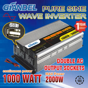 Large-Shell-Pure-Sine-Wave-Power-Inverter-1000W-2000W-12V-240V-USA-Transistor