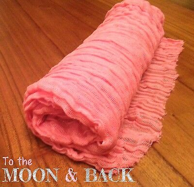 Hand Dyed Pink cheesecloth newborn baby wrap. Perfect photography photo prop