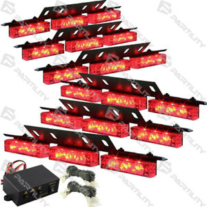 Awesome 54 Red Led Emergency Vehicle Strobe Flash Lights Front Grill Car Wiring Cloud Brecesaoduqqnet
