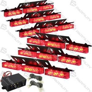 Outstanding 54 Red Led Emergency Vehicle Strobe Flash Lights Front Grill Car Wiring Digital Resources Llinedefiancerspsorg