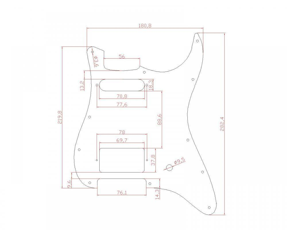 Electric Guitar Hs Pickguard For Fender Strat Parts Single Humbucker Schematics Description