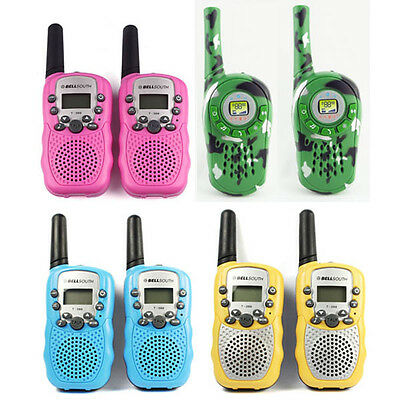 New 2PCS Walkie Talkie Wireless Walkie-talkie Set Portable Electronic Toys Games