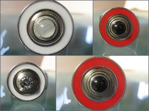 Touch Metall-Scheibe leicht vertieft Charlotte 21 Weiß emailliert kompat