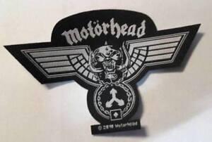 Motoerhead-Hammerd-Shape-Patch-Aufnaeher-Lemmy-Metal-Hard-Rock-n-Roll-NEU