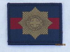 Coldstream Guards Stoffabzeichen mit Klettverschluß, blau/bordeux/blau, 50x65mm