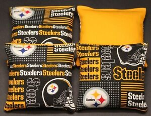 Pittsburgh Steelers Cornhole Bean Bags 4 ACA Regulation Corn Hole Bags Tailgate