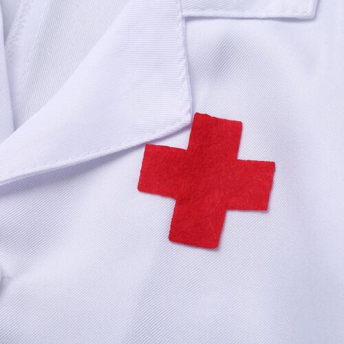 Doctor Coat Fancy Dress Up Costume Kids Boys Girls Nurse Paramedic Scrub Uniform