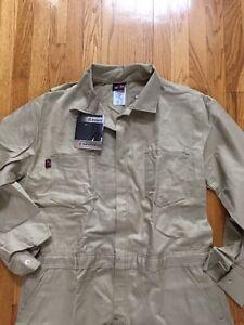 SAF-TECH 9. oz Coverall Indura Westex COVERALLS Size XL. HRC-2 Flight Suit