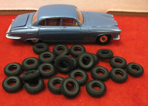 14mm black NEW! Very Small Treaded Tires for Dinky 60/'s Lot of 24 Misc.