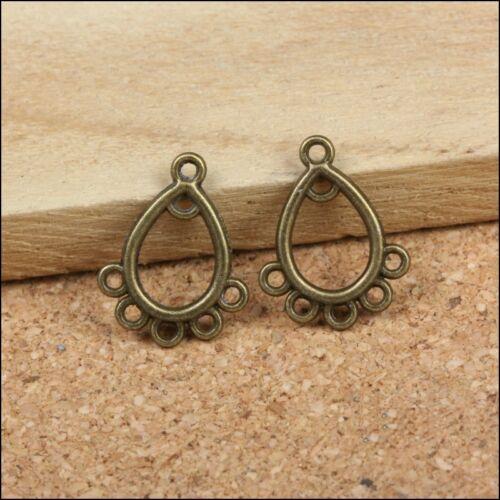 Lot 5 Connecteur Perle Bronze 6 Trous 16mm x 12mm Creation bijoux Porte Cle