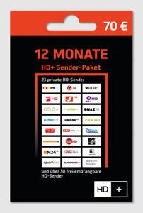 HD+ Plus Verlängerung TV HD Empfang 12 Monate  für alle Karten 01 02 03 04 Neu