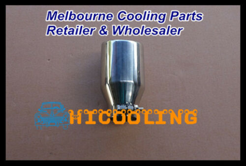 """Universal Muffler Tip 2/"""" Inlet Round Bolt On Angle Cut 3/"""" Outlet 6.7/"""" Long"""