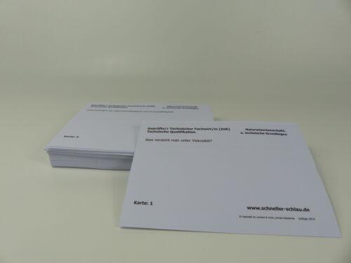 Lernkarteikarten Prüfungsvorbereitung  Technischer Fachwirt Prüfungsbereich II