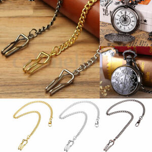 Stainless-Steel-New-Single-Albert-Pocket-Watch-Chain-Retro-Style-3-Colors