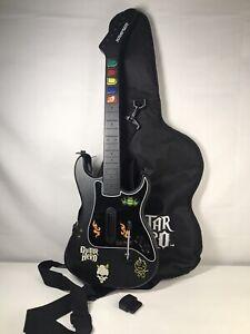 Red Octane Kramer Striker Wireless Guitar Hero PS2 Guitar W/ Strap,Dongle & Cas