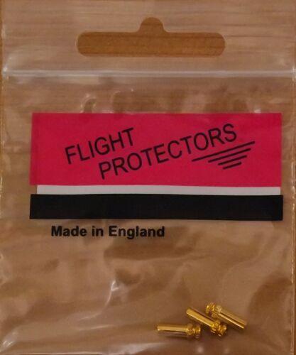 """/""""Gold Pepper Pot/"""" Alloy Flight Protectors//Savers 1X3 1 Set"""