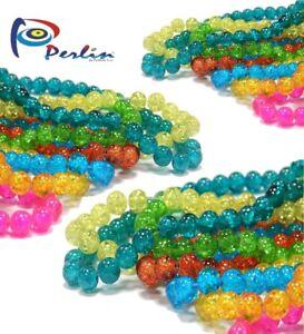 21-Strange-Glasperlen-Crackle-4mm-6mm-8mm-set-Mix-Farbe-Rund-Schmuck-1600-Perlen