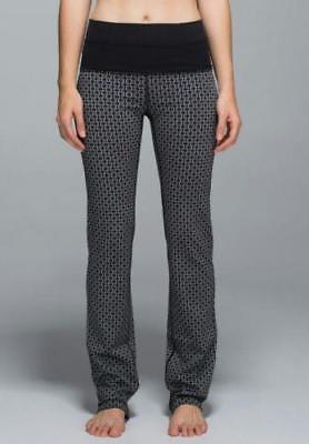LULULEMON~$108.00~TRI-GEO *STRAIGHT-UP PANTS* FOLD-OVER~ROLL-DOWN YOGA PANTS~4