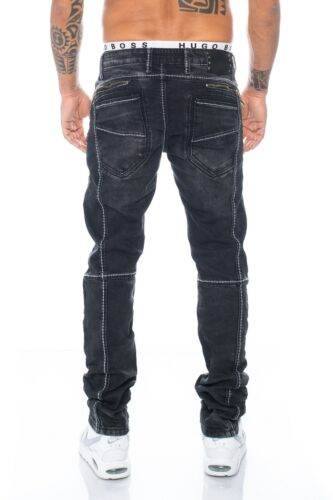 CIPO /& Baxx hommes COUTURES JEANS pantalon 288 Noir w28 29 30 31 32 33 34 36 38 40