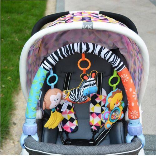 Singring Baby Arch Pram Crib Activity Cloth Animal Toy Pram Activity Bar with
