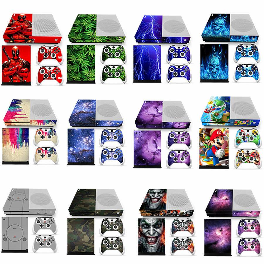 Xbox One S (SLIM) Skin Decal Vinyl Sticker Wrap -12 Designs