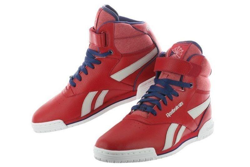 New Reebok Exofit Hi Clean Logo V44268 Red Men Running Training Shoes Size 10.5