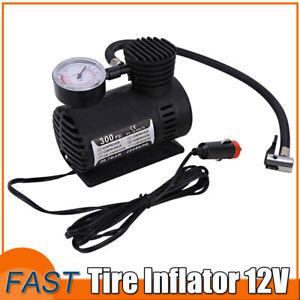 Car Electric 300PSI Portable Mini Air Compressor Tire Inflator For Car Bike 12V