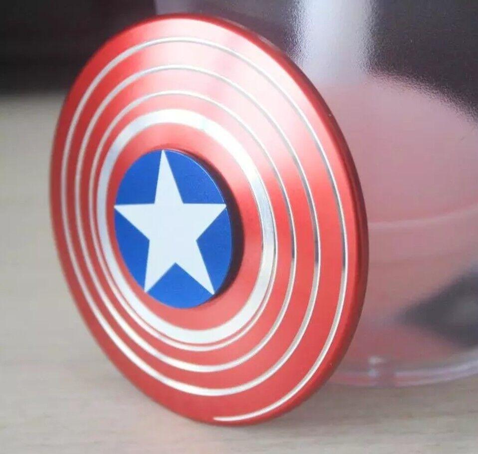 100 Bulk Quantity  Captain America Fidget Spinner  spedizione veloce a te