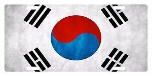 SOUTH KOREA FLAG Custom License Plate East Asia Emblem Original Version