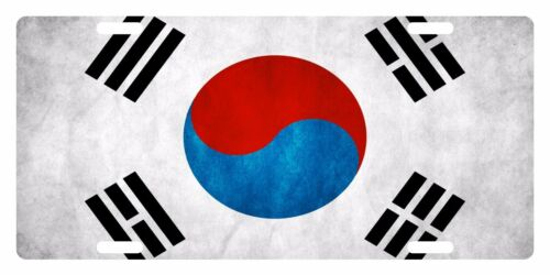 SOUTH KOREA  FLAG Custom License Plate East Asia Emblem  Cloudy Version