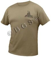 Dont Tread On Me Tea Party Ss 'low Key' Khaki T Shirt S-3x Come And Take It 2a
