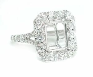 1-5-CT-Large-Rectangular-Cushion-Halo-Mounting-DIAMOND-Ring-Setting-14K-WG