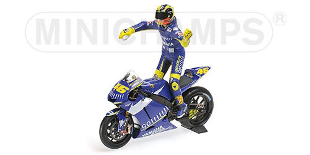 MINICHAMPS 053146 Yamaha YZR-M1 bike & figure set Vale Rossi MotoGP 2005 1 12th