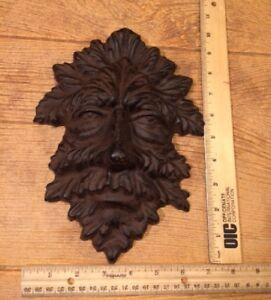 Cast-Iron-Leaf-Man-Dryad-Wall-Mask-10-034-Home-amp-Garden-Decor-Supplies-0170-05631