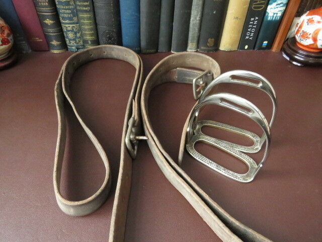 Early 20th c Stirrup Irons, G Parker & Sons London, Equestrian Stirrup Irons