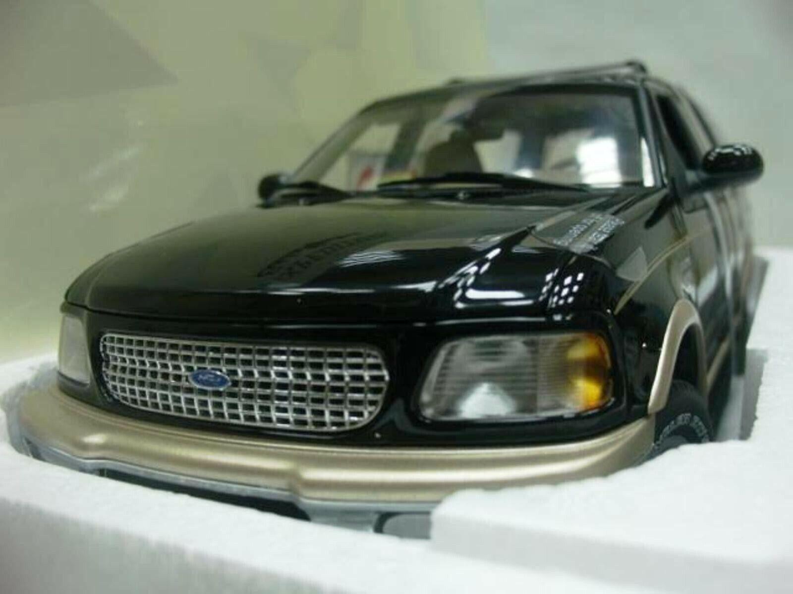 Wow extrêmeHommest rare FORD EXPEDITION  SUV 4x4 5.4 V8 EB 1998 Noir 1 18 UT-AUTO ART  populaire