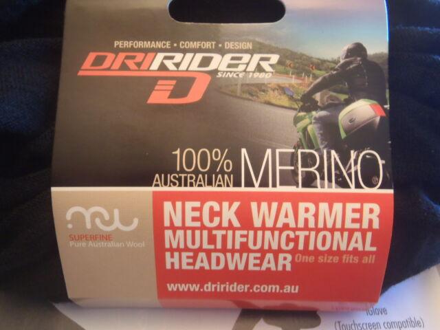 DriRider Merino Multi-Function Thermal Neck Sock Sox Warmer Ski Skiing Black