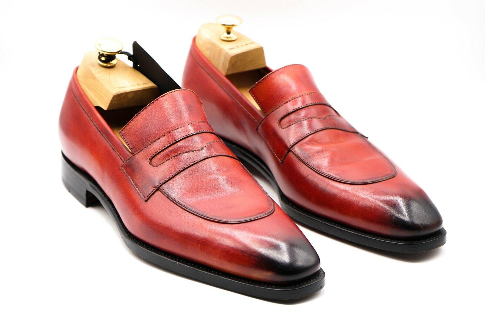 NEW KITON Napoli Dress Leather Shoes Size Eu 43.5 Uk 9.5 Us 10.5 (KIS46)