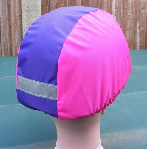 Imperméable Équitation Chapeau Couverture//Reflective Strip Flo Rose//Violet RHC03