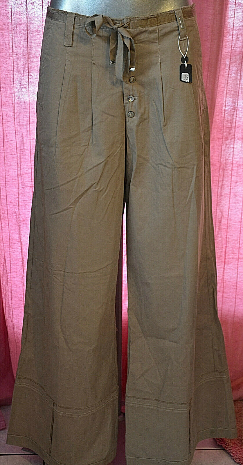 Pretty trousers taupe extra large woman HIGH USE size 42 fr 46i NEW LABELS