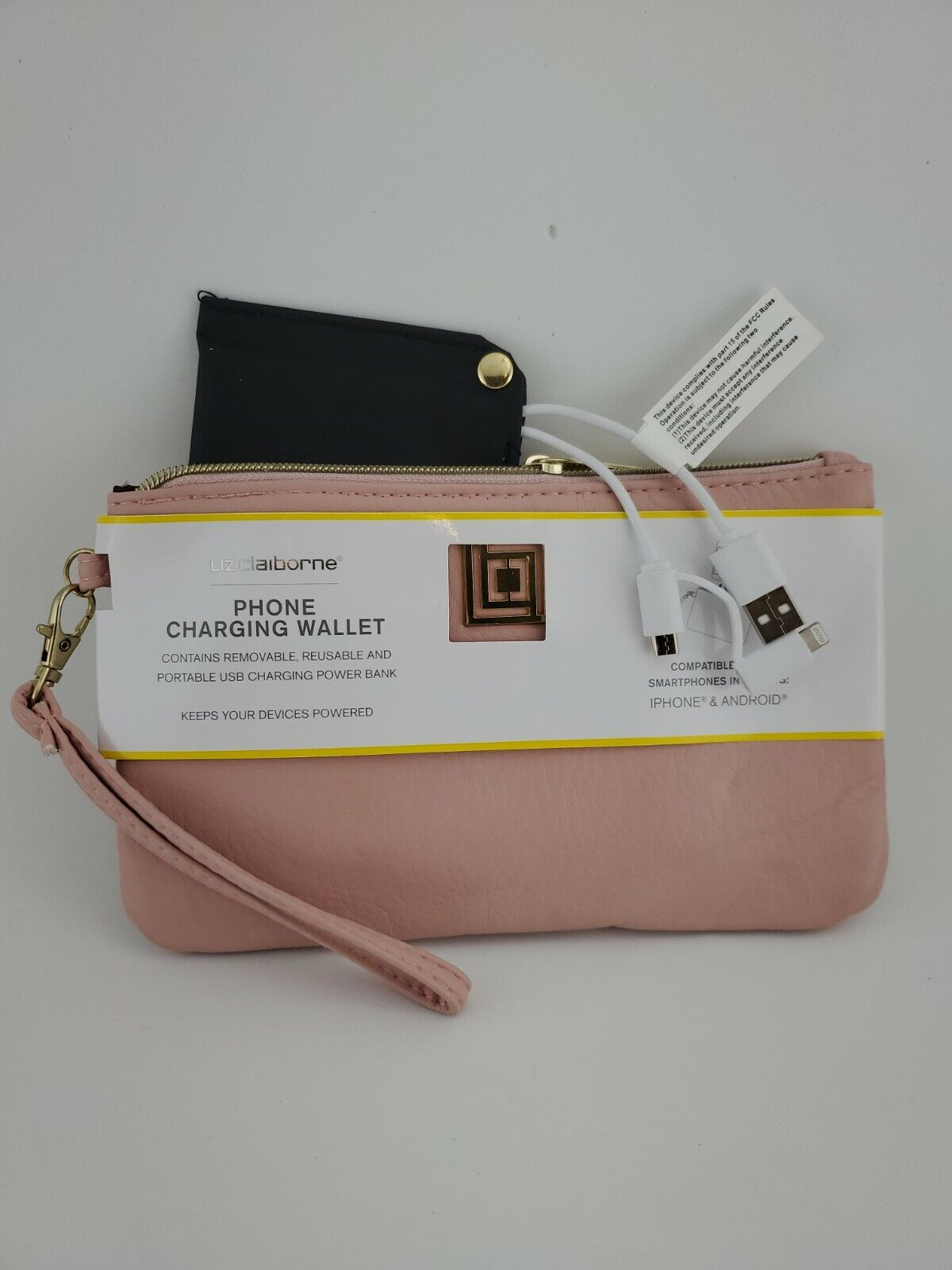 Liz Claiborne Phone Charging Wallet - Pink - Brand New Originally
