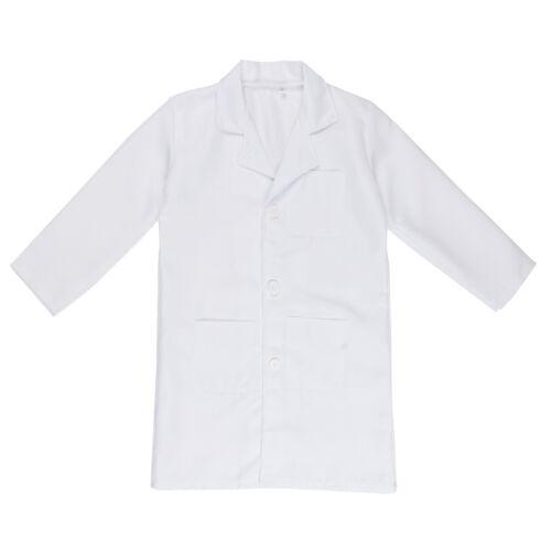 Costume Nurse Fancy Dress up Party Kids Lab Coat Boys Girls Scientist Doctor Dr