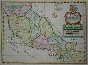 A New Map Of Latium Etruria - Edward Wells 1700 - Römisches Reich -mittelitalien 2019 Offiziell